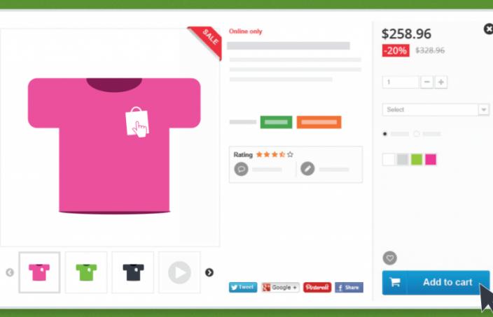 E-ticaret ürün sayfası